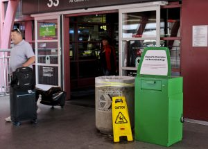 A Drug Collection Receptacle Outside McCarran International Airport