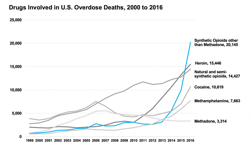 National Opioid Overdose Death Statistics