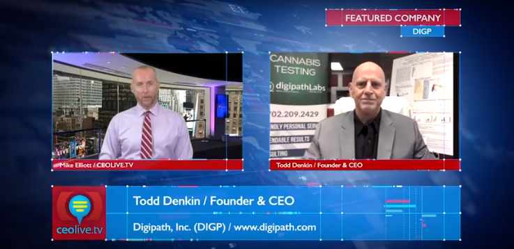 Digipath, Inc. CEO, Todd Denkin Interviewed on CEOLIVE