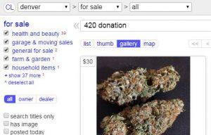 Las Vegas marijuana sales, illegal marijuana in Las Vegas, CraigsList, Las Vegas marijuana lab testing
