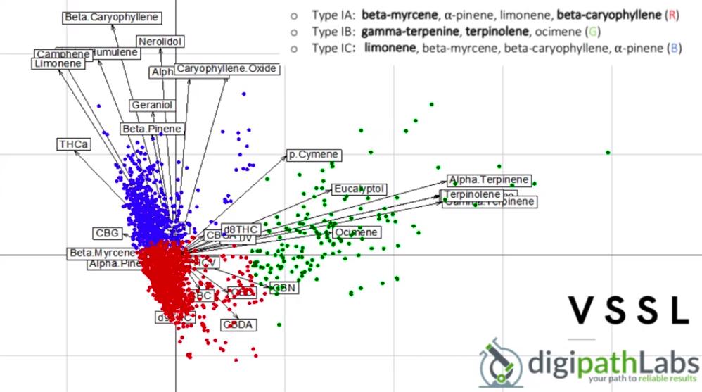 collecting cannabis phenotyping data while marijuana lab testing in Nevada